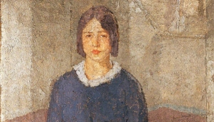 Credit: Gwen John (1876-1939) Girl in a Blue Dress Holding a Piece of Sewing © Norfolk Museums Service